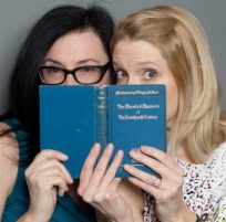 photobooth shoot with authors Amy Helmes and Kim Askew